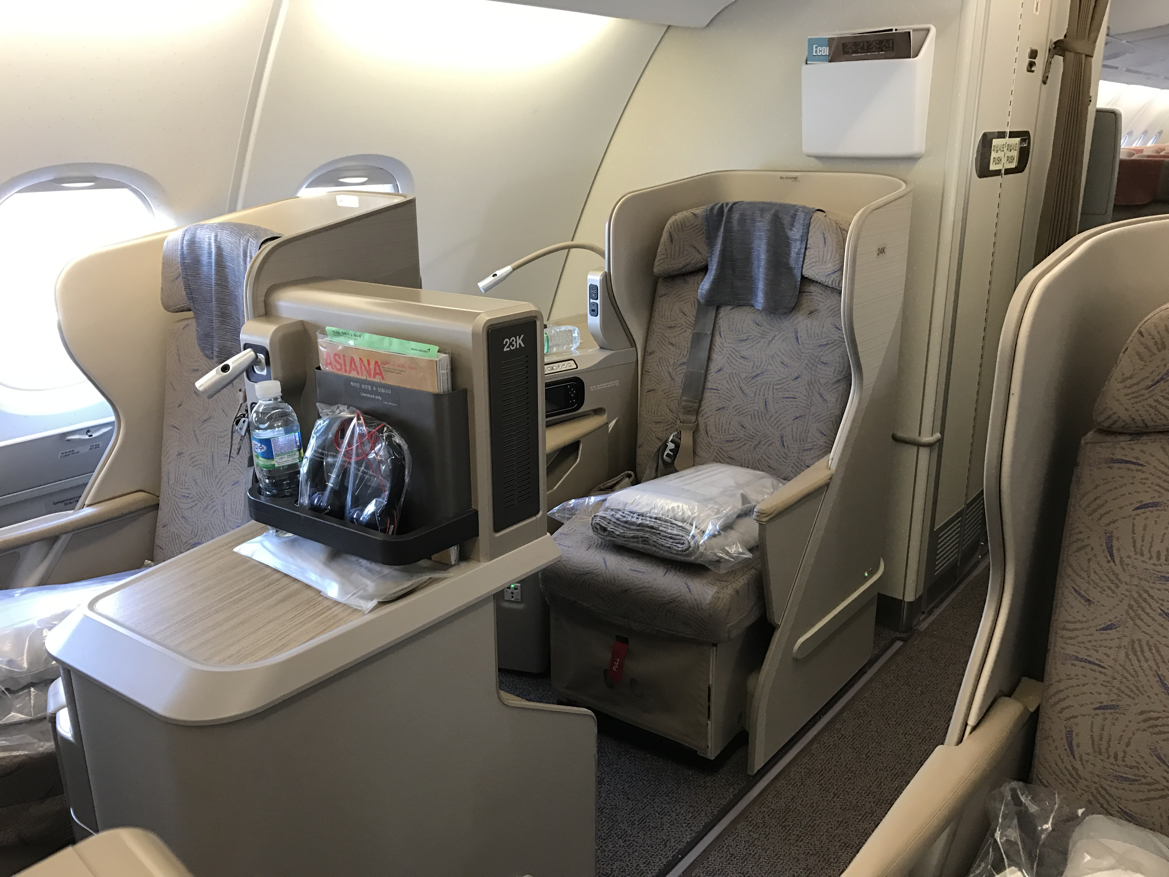 Trip Report Asiana Airlines A380 Business Class Review - New York JFK To Seoul ICN